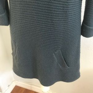 Ann Taylor Dresses - Ann Taylor Dress Blue Cowl Neck Knit Sweater Dress